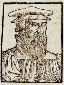 Jeroným Pražský z Munsterovy Cosmographie (detail)