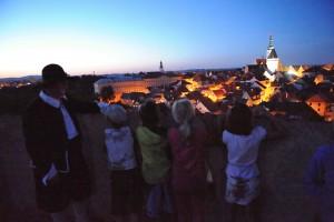 Kotnov - večer na věži