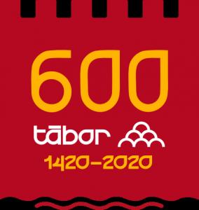 600 města Tábor - logo červené